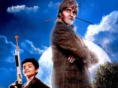 [Poster for Bhoothnath Returns with Bhoothnath Returns, Amitabh Bachchan, Parth Bhalerao, Nitesh Tiwari]