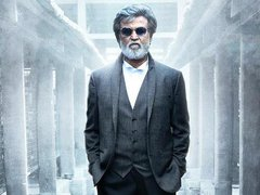 [Poster for Kabali with Kabali, Pa. Ranjith, Rajnikanth, Winston Chao, Radhika Apte]