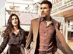 [Poster for Airlift with Airlift, Akshay Kumar, Nimrat Kaur, Raja Krishna Menon]