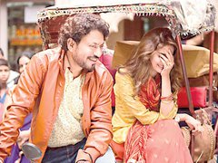 [Poster for Hindi Medium with Hindi Medium, Irrfan Khan, Saba Qamar, Saket Chaudhary]