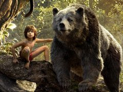 [Poster for The Jungle Book with The Jungle Book, Neel Sethi, Irrfan Khan, Priyanka Chopra, Jon Favreau]